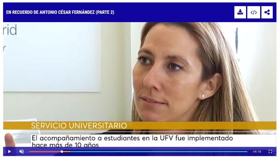 Sin título 1 Patricia Castaño en Periferias de 13TV, habla sobre el programa de acompañamiento de la UFV Estudiar en Universidad Privada Madrid