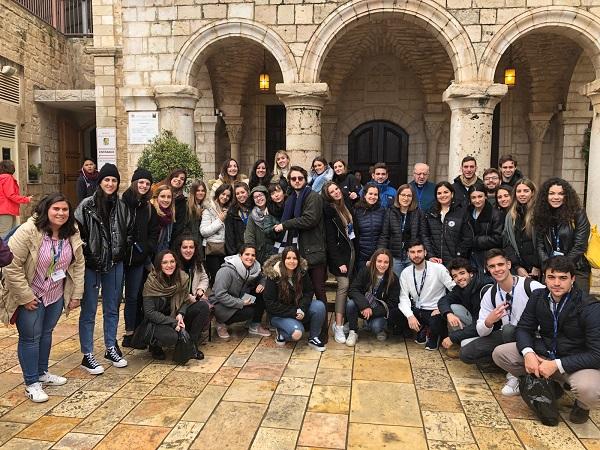 WhatsApp Image 2019 02 14 at 09.06.16 Alumnos de 4º de Biotecnología y Psicología realizan un viaje a Tierra Santa Estudiar en Universidad Privada Madrid