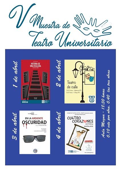 CARTEL MTU 2019 page 0001 V Muestra de Teatro en la UFV