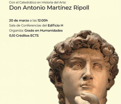 Cartel Conferencia Martínez Ripoll 417x357 actualidad UFV