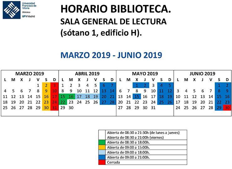 HORARIO SALA DE LECTURA marzo junio 2019 740x540 Biblioteca
