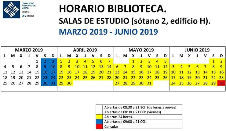 HORARIO SALAS DE ESTUDIO marzo junio 2019 740x430 Biblioteca