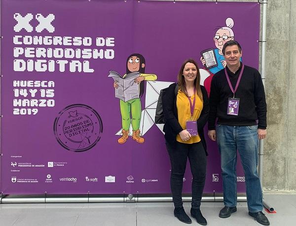 Laura Zazo y Humberto Martínez Fresneda Nuestros profesores Laura Zazo y Humberto Martínez Fresneda acurdieron al XX Congreso de Periodismo Digital