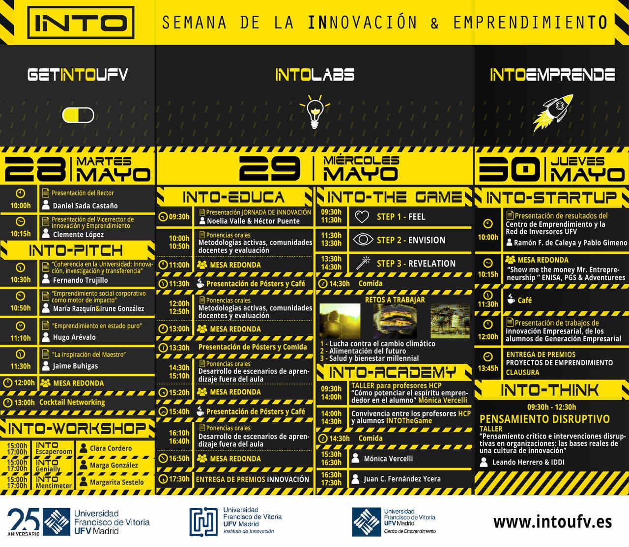 PROGRAMA INTO UFV web INTO  I Semana de la INnovación y el EmprendimienTO en la UFV