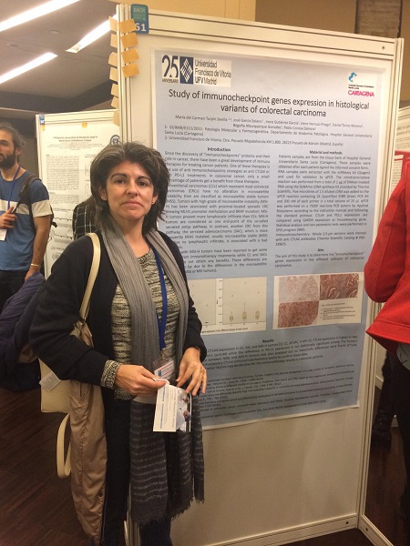 WhatsApp Image 2019 03 11 at 16.44.33 Mari Carmen Turpín presenta un póster en el Congreso Defence is the Best Attack: Immuno Oncology Breakthroughs