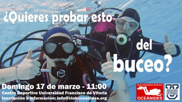 cartel bautizos e1551352713421 Taller de buceo en la UFV   17 de marzo