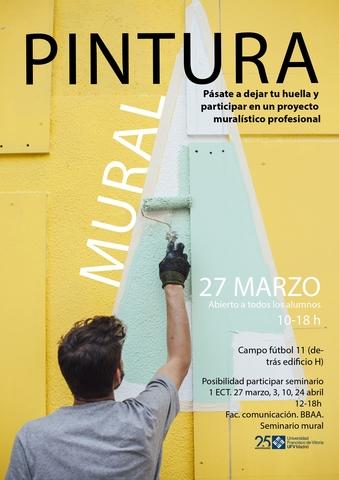 cartel pintura mural 2 page 0001 Easy Resize.com  Taller de pintura mural del campo de fútbol 11 dirigido por Elisa de la Torre y Eduardo Zamarro Estudiar en Universidad Privada Madrid