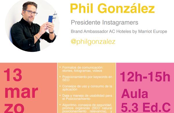 d2a9354a e698 4105 add6 68d494172bc2 Phil González, creador de la comunidad Instagramers, visita la UFV
