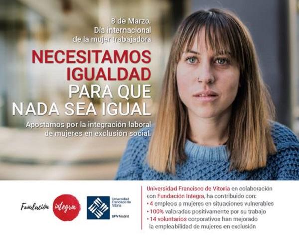 image004 La UFV se une a la campaña de la Fundación Integra para el Día de la mujer en su apuesta por la integración laboral de mujeres que se encuentran en exclusión social