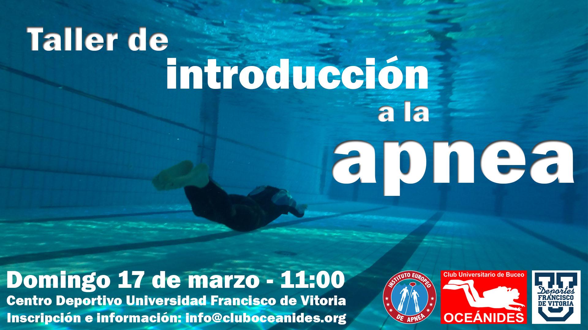 taller apnea Taller de buceo en la UFV   17 de marzo