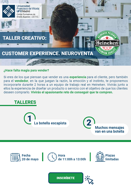 279423000003495004 zc v6 sesesesese Heineken y UFV te invitan al Taller Creativo de Customer Experience