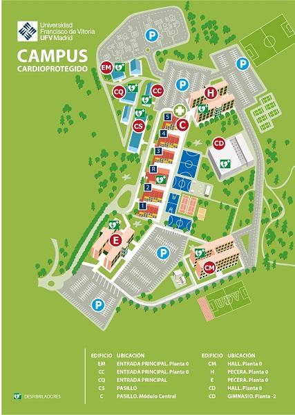 A5 Mapa Campus UFV Desfibriladores page 0001 La UFV es un campus Cardioprotegido