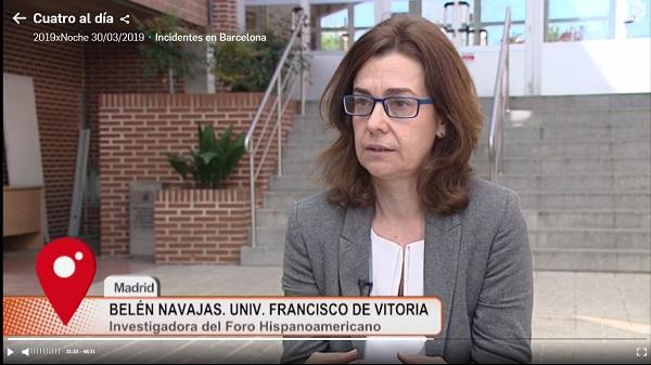 Captura Belén Navajas, investigadora del Foro Hispanoamericano, explica en Cuatro si España debería o no pedir disculpas por la conquista de México Estudiar en Universidad Privada Madrid