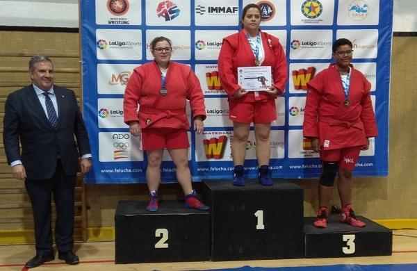 ccbab554 6c8c 4f21 8610 57c3637a5be2 Evadne Huecas, alumna de CAFyD, campeona de España de lucha Sambo