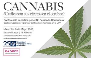 66de762b 2581 4b5c a1f0 726ab7c6a17a El profesor Fernando Berrendero imparte la conferencia Cannabis ¿Cuáles son sus efectos?