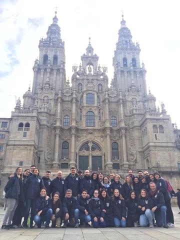 Catedral 1 Easy Resize.com  El Vicerrectorado de Calidad y Transformación Organizacional peregrina a Santiago