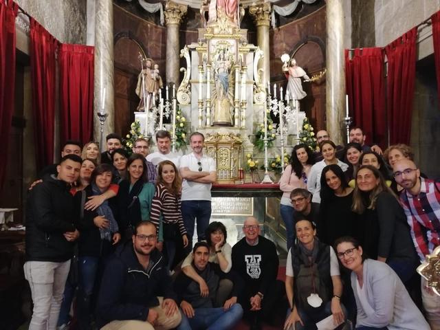 Padrón Easy Resize.com  El Vicerrectorado de Calidad y Transformación Organizacional peregrina a Santiago Estudiar en Universidad Privada Madrid