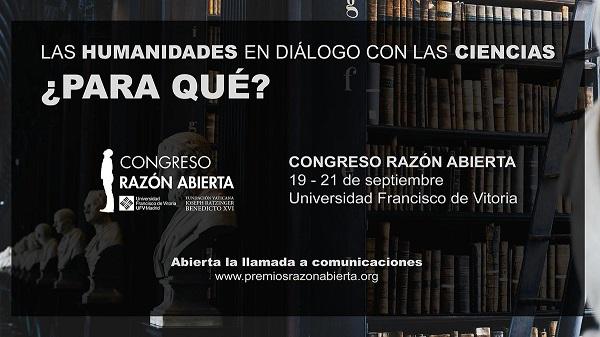 comunicaciones razon abierta 2019 El Congreso Razón Abierta abre una llamada a comunicaciones con relación al diálogo entre ciencia y filosofía