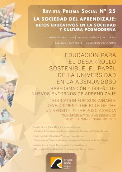 prismasocial Daniel de la Rosa, Pilar Giménez y Carmen de la Calle publican un artículo en la Revista Prisma Social