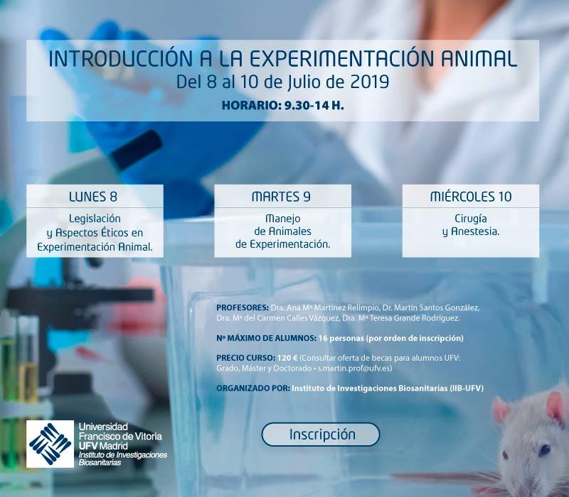 curso experimentacioon CURSO DE INTRODUCCIÓN A LA EXPERIMENTACIÓN ANIMAL