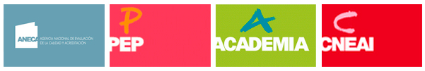 logotipos biblioteca Evaluación: acreditación y sexenios Estudiar en Universidad Privada Madrid