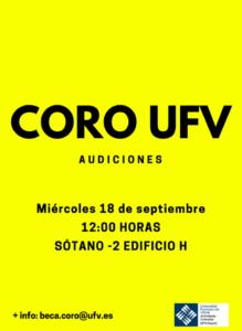 100919 2 219x300 Comienzan las audiciones para el Coro UFV