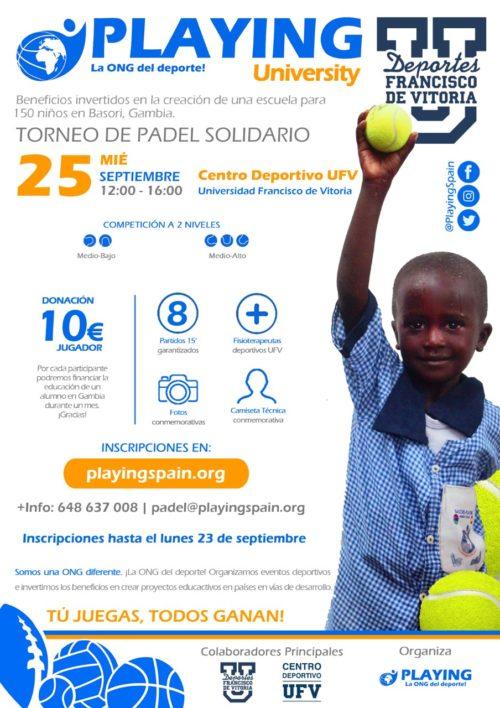 110919 3 e1568214567509 Torneo de Pádel solidario para construir una escuela en Gambia Estudiar en Universidad Privada Madrid