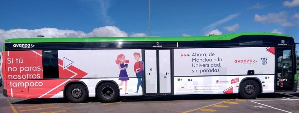 Bus Moncloa UFV Con motivo del inicio del curso académico la Universidad Francisco de Vitoria (Madrid) amplía su horario de autobuses