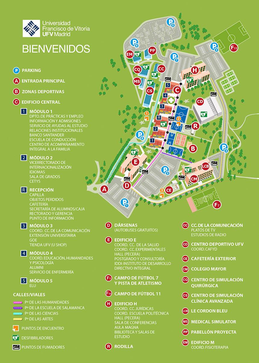campus septiembre web Mapa del Campus