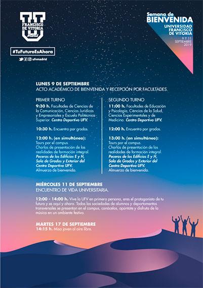 programa semana bienvenida web septiembre Semana de Bienvenida