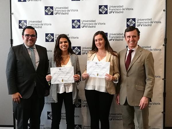 091019 25 Dos alumnas de Boadilla del Monte reciben una beca de excelencia de la UFV