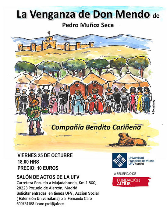 091019 5 e1570632742170 Representación solidaria de La venganza de Don Mendo en favor de la Fundación Altius Estudiar en Universidad Privada Madrid