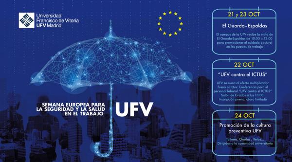 161019 1 La prevención del ictus, la mejora de la postura corporal y la promoción de la cultura preventiva son los pilares de la Semana Europea para la Seguridad y la Salud en el Trabajo en la UFV