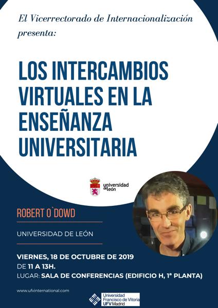 171019 3 Robert ODowd, profesor de la Universidad de León, imparte una charla sobre Los intercambios virtuales en la enseñanza universitaria