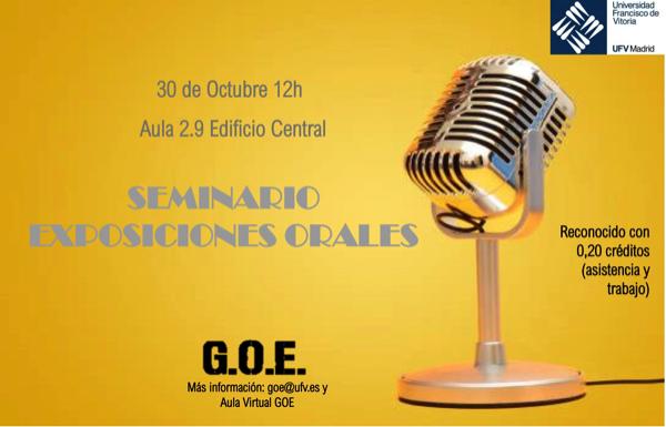 221019 2 El GOE organiza un seminario sobre cómo hacer exposiciones orales el 30 de octubre