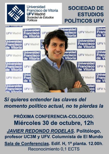 241019 21 Javier Redondo, politólogo y columnista de El Mundo, protagonista del próximo coloquio de la Sociedad de Estudios Políticos