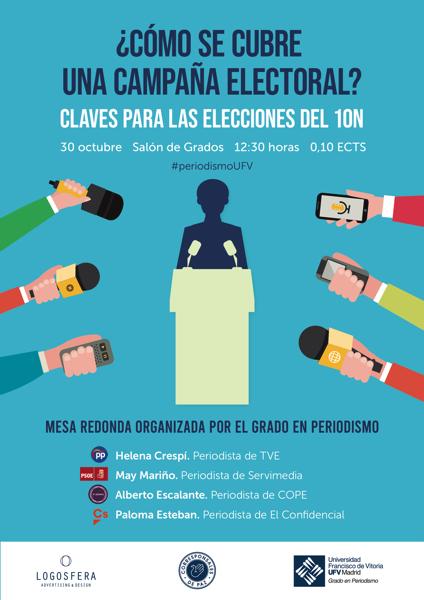 241019 23 Periodistas expertos compartirán en la UFV cómo se cubre una campaña electoral