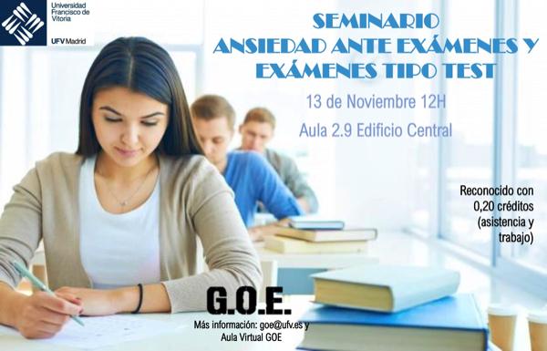 301019 1 ¿Cómo enfrentarse a la ansiedad ante los exámenes o a las pruebas tipo test?