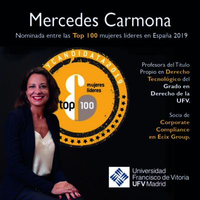 800x800Imagen Top100 1 e1571755683463 Mercedes Carmona, nominada al ránking Top 100 Mujeres Líderes en España 2019