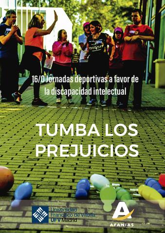 CARTEL JORNADAS DEPORTIVAS UFV Mesa de trabajo 1 Easy Resize.com  Jornadas deportivas a favor de la discapacidad intelectual Tumba los prejuicios Estudiar en Universidad Privada Madrid