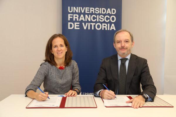 Firma 2 1 e1572945378355 La UFV firma un convenio con la Sociedad Madrileña de Medicina de Familia y Comunitaria