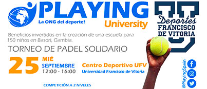 cartel padel web Deportes UFV Estudiar en Universidad Privada Madrid
