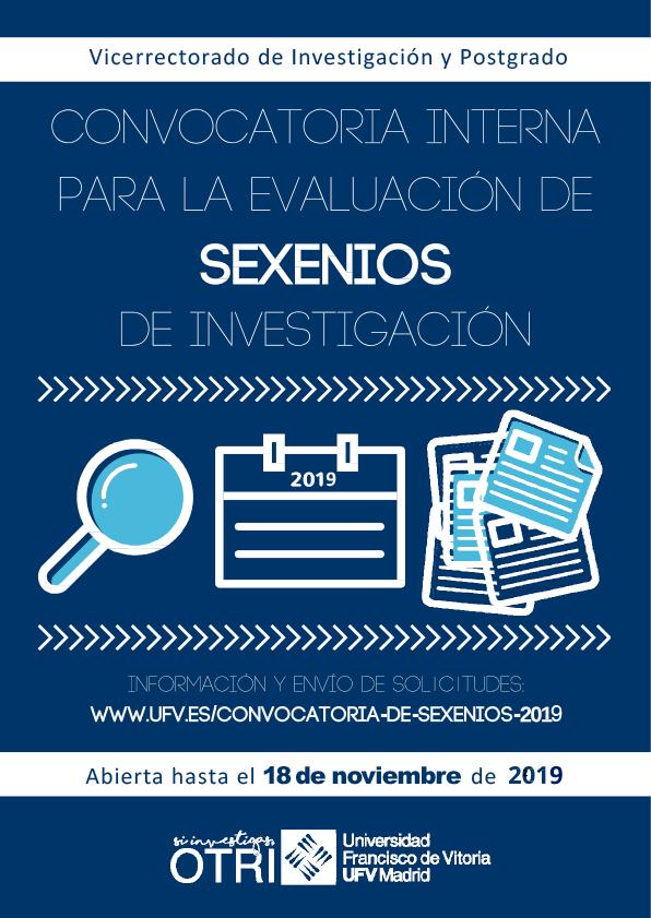 cartel sexenios 2019 Convocatoria de Sexenios 2019