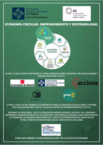 1911 2 El Centro de Emprendimiento organiza un seminario sobre Economía Circular de mano de la Comunidad de Madrid Estudiar en Universidad Privada Madrid