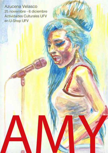 2711 1 Azucena Velasco, alumna de Bellas Artes UFV, expone su colección sobre Amy Winehouse en la U Shop