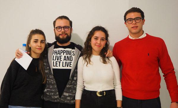 Alumnas Publicidad UFV 1 e1573572701782 Dos alumnas del Grado en Publicidad de la UFV, ganadoras del I Hackaton Día E de Creatividad y Negocio 2019 Estudiar en Universidad Privada Madrid