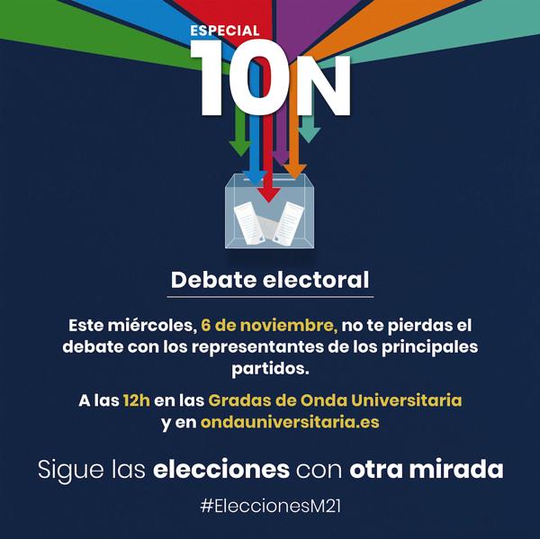 Captura de pantalla 2019 11 06 a las 10.57.21 Onda Universitaria organiza un debate electoral con representantes de los principales partidos