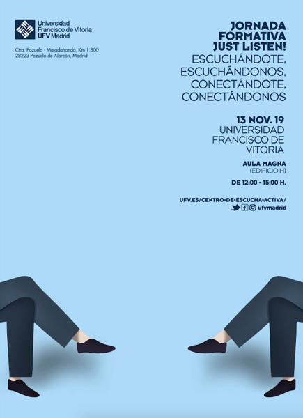 Captura de pantalla 2019 11 11 a las 15.58.07 El Centro de Escucha Activa UFV organiza la Jornada formativa Just listen! Estudiar en Universidad Privada Madrid