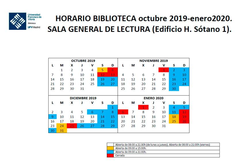 horario biblioteca 19 20 Biblioteca