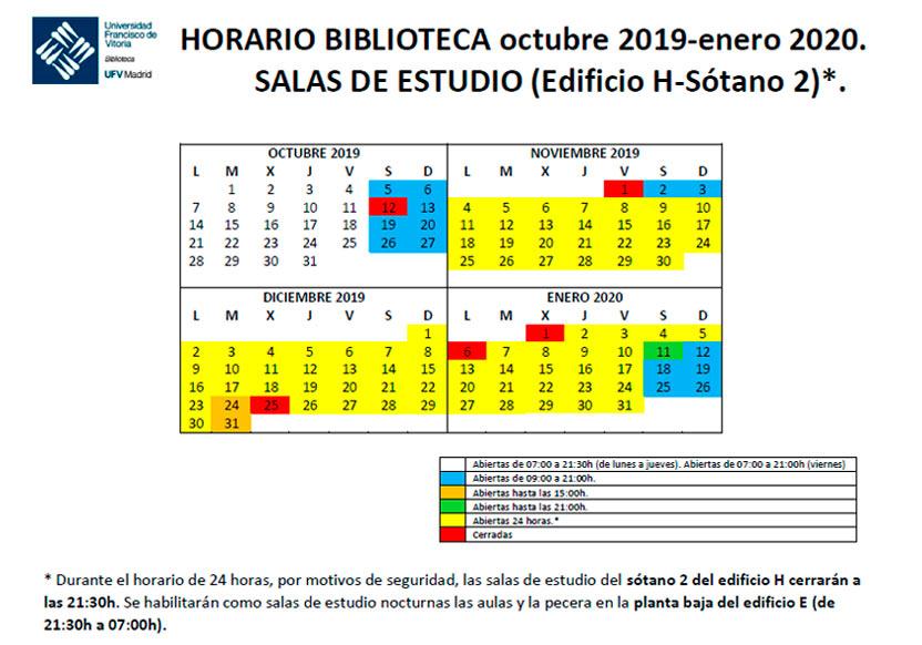 horario biblioteca 19 20 S2 Biblioteca